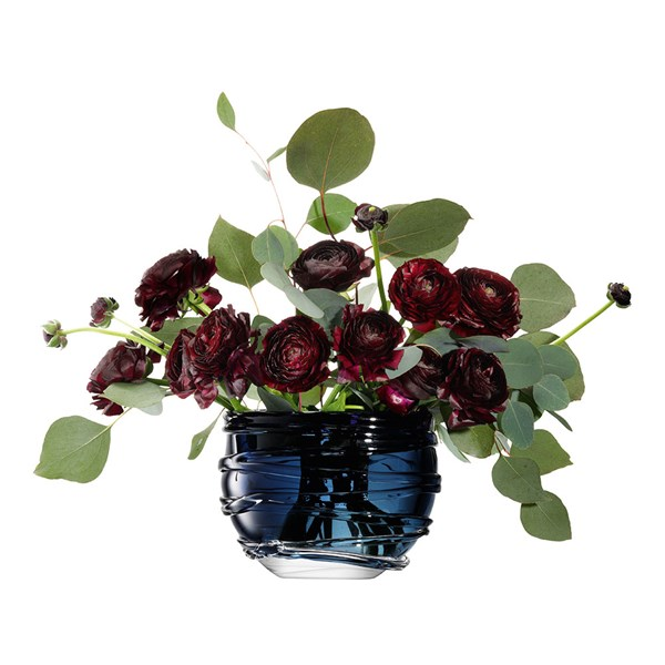 LSA Small Yarn Vase in Sapphire Blue