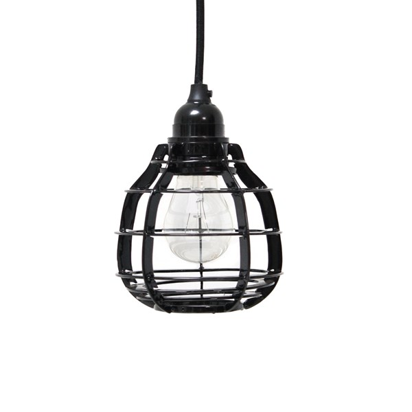 Industrial Pendant Light Shade in Black