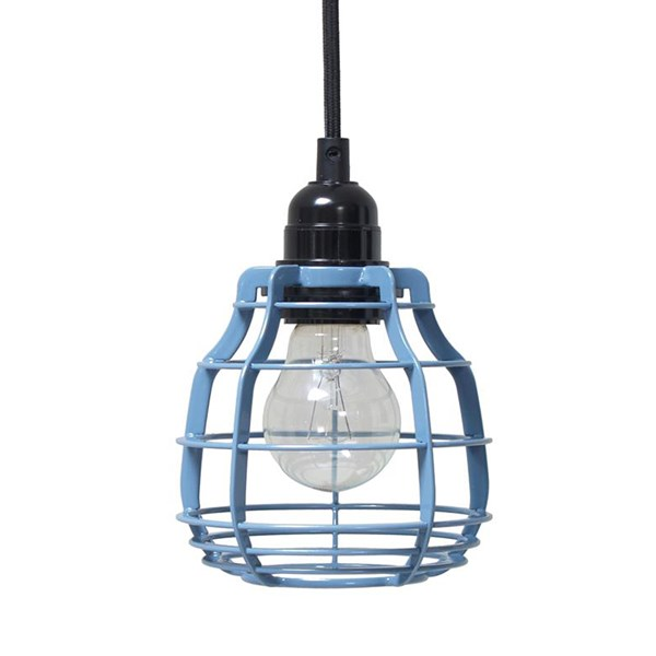 Industrial Metal Ceiling Light Shade in Blue