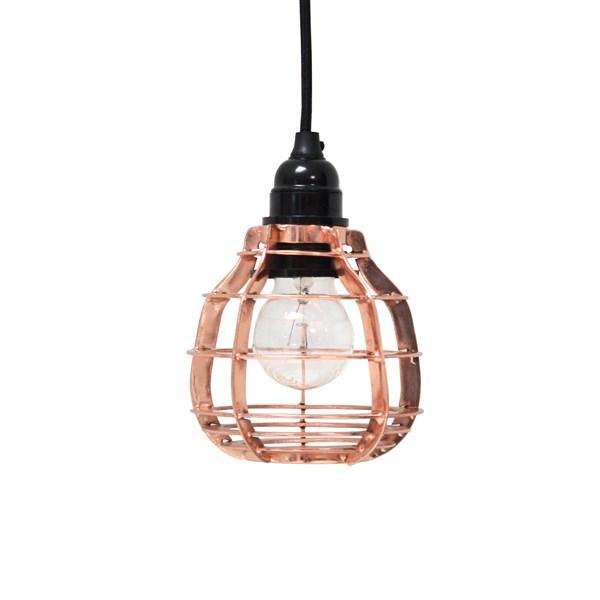 Industrial Metal Pendant Light Shade in Copper