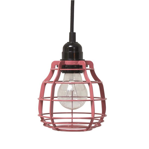 Industrial Metal Pendant Light Shade in Red