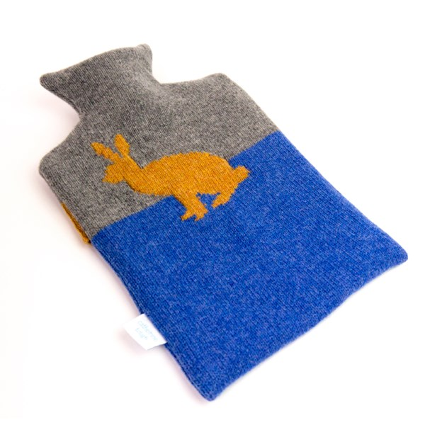 Gold Rabbit Lambswool Hot Water Bottle Covers