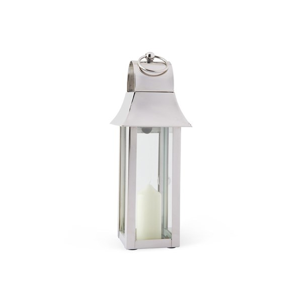 Tonto Lantern in Stainless Steel with Nickel Plate
