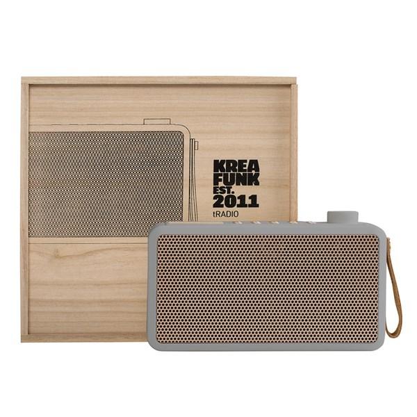 Grey and Gold Wireless Speaker and Digital Radio