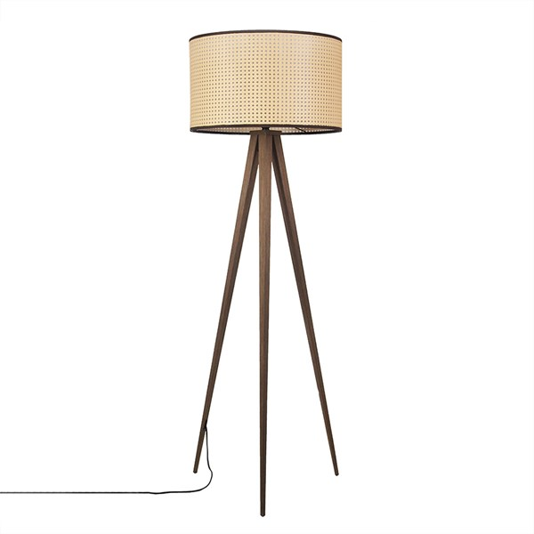 Zuiver Cane Tripod Floor Lamp
