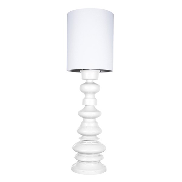 Large Modern Floor Lamp in White