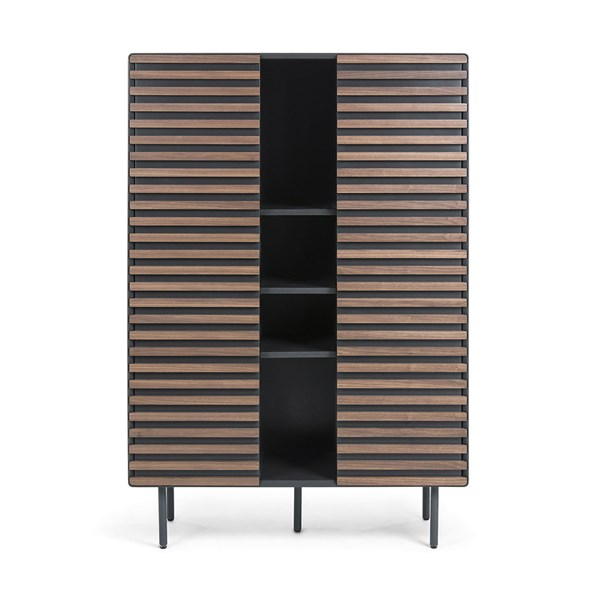 Mahon Bookcase in Walnut Veneer by La Forma