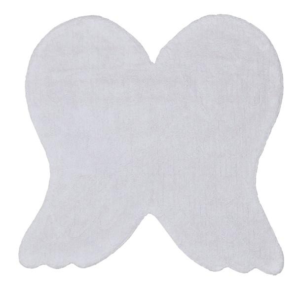 Plain White Angel Wings Rug