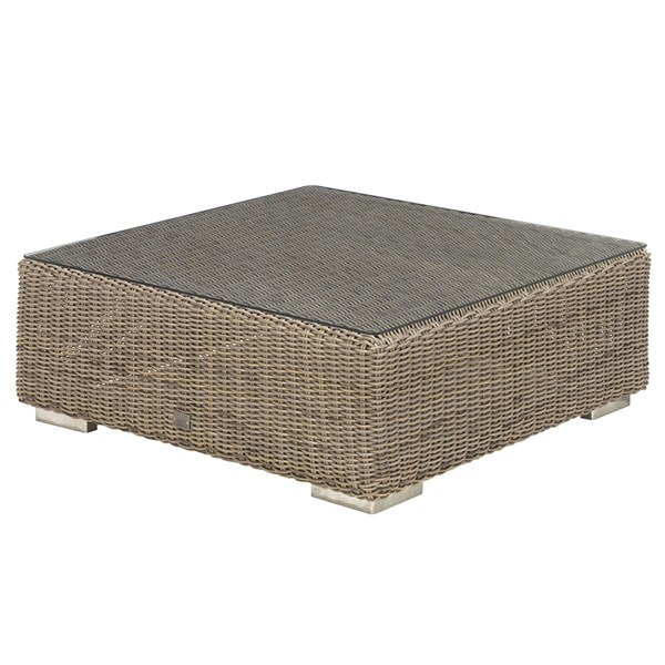 Low Outdoor Coffee Table with Polyloom Rattan