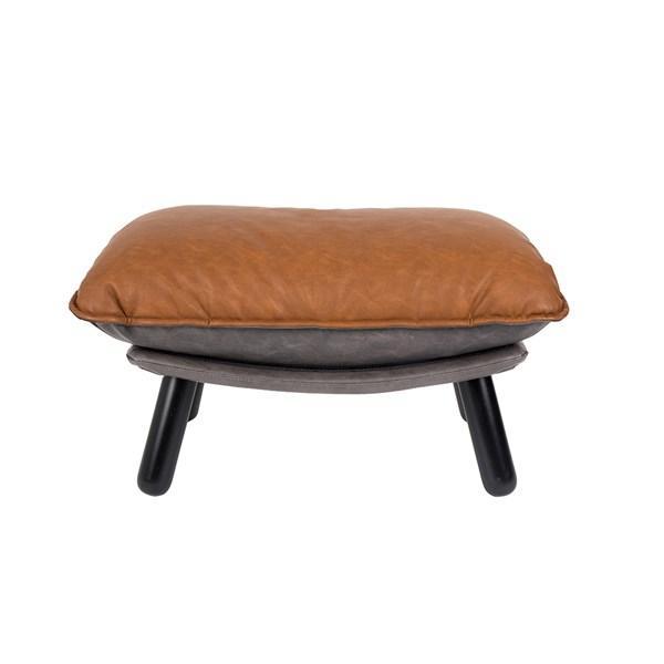Lazy Footstool in Vintage Brown