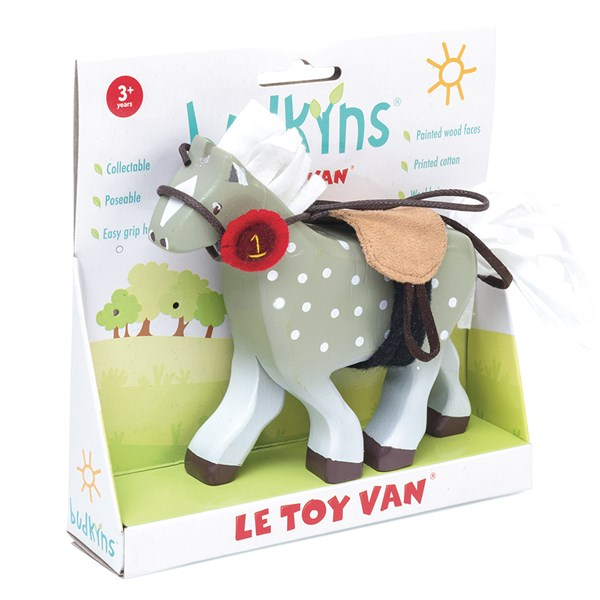 Le Toy Van Budkins Grey Horse Figure
