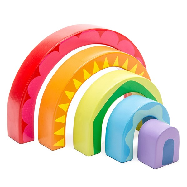 Le Toy Van Petilou Rainbow Tunnel Stacking Toy