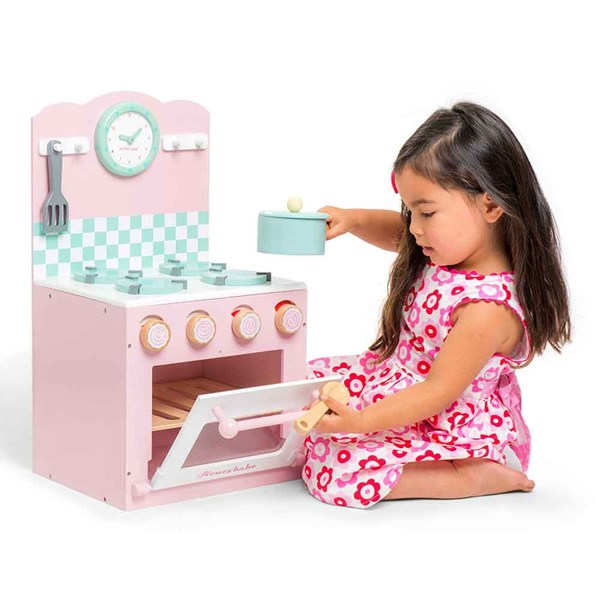 Le Toy Van Oven and Hob in Pink