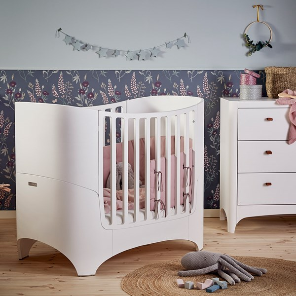 Leander Classic Baby Cot in White with Optional Extension Kit