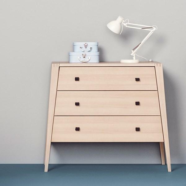 Linea 3 Drawer Dresser in Beech