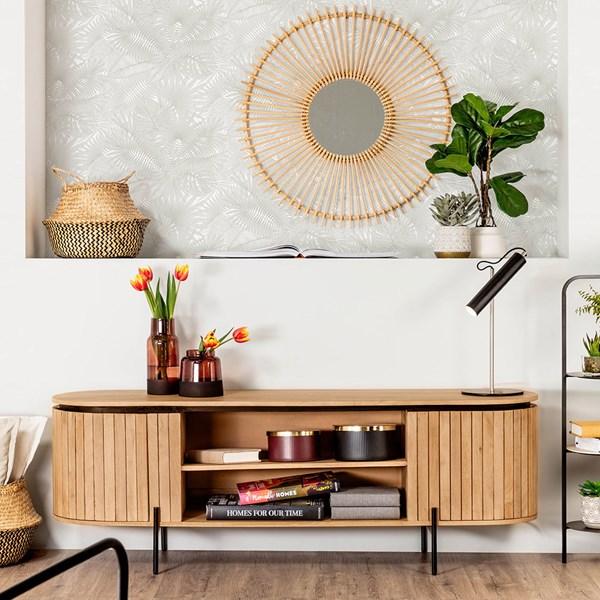 Licia Mango Wood TV Stand