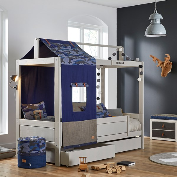 Lifetime Blue Camo Four Poster Bed