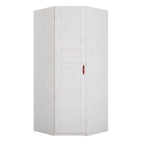Luxury Corner Wardrobe with 1 Door and Leather Handle