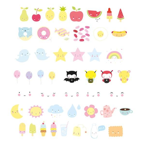 Kawaii Lightbox Letters Set