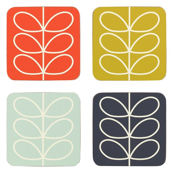 Orla Kiely Linear Stem Coasters - Set of 4