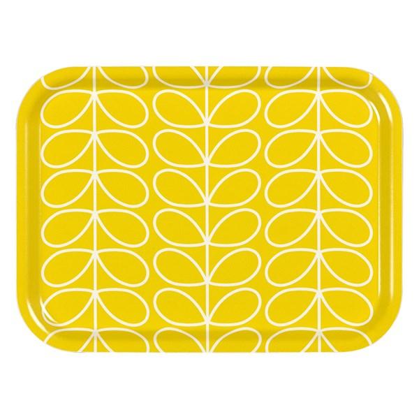 Orla Kiely Small Tray in Yellow Linear Stem Print