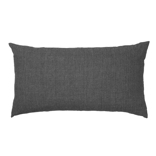 Linen Headboard Cushion in Charcoal