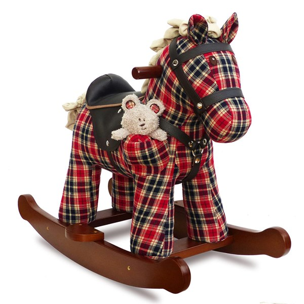 Winston and Red Rocking Horse by Little Bird Told Me