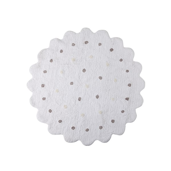 Luxury Handmade White Biscuit Carpet for Kids