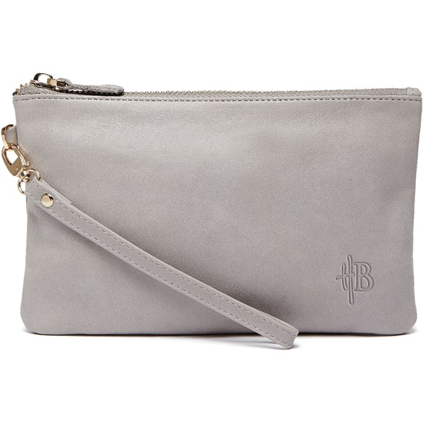 Mighty Purse Designer Clutch Bag in Lizard Grey