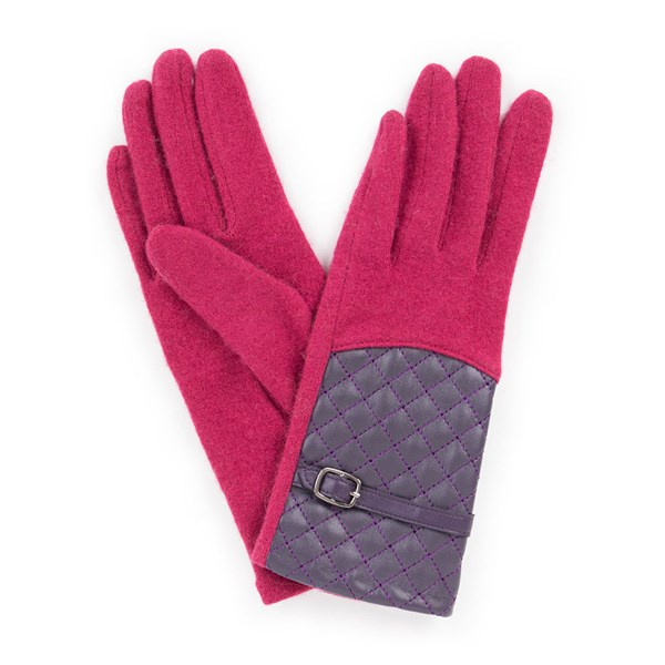 Powder Lizzy Wool Gloves in Raspberry