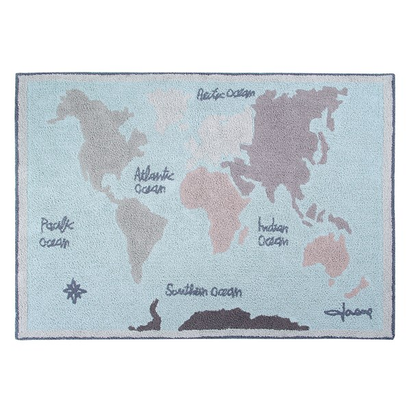 Lorena Canals Kids Washable Vintage Map Rug