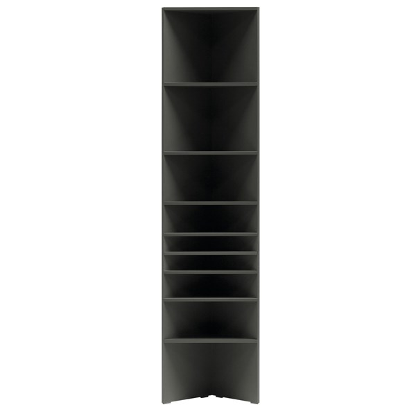 Lori Tall Narrow Bookcase in Graphite