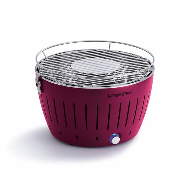 Lotus BBQ Grill in Plum Purple, FREE Lighter Gel, Charcoal & Carry Bag!