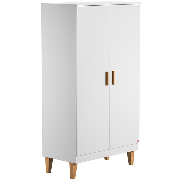 Lounge Double Wardrobe in White & Oak