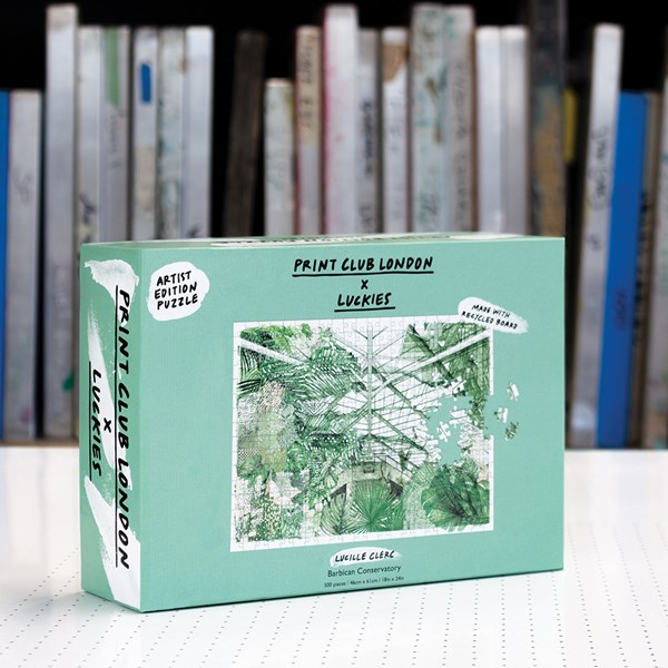 Luckies Print Club London Barbican Conservatory Jigsaw Puzzle