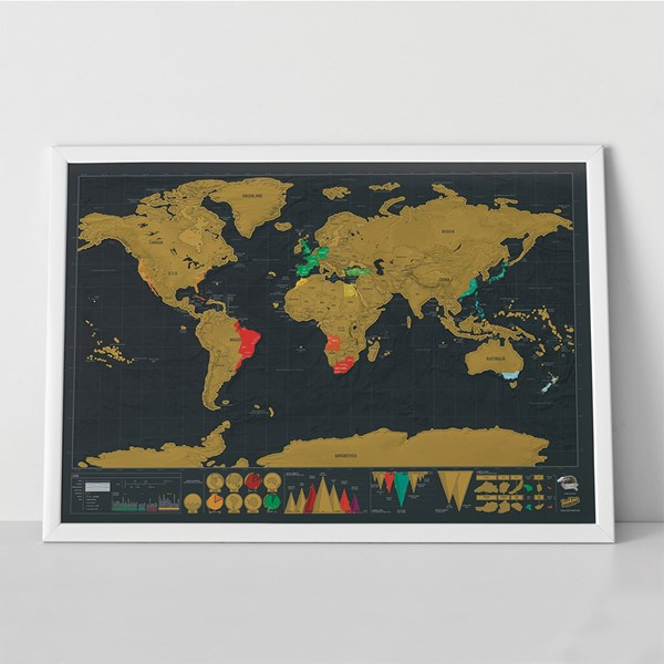 Copper Foil Deluxe Scratch Map