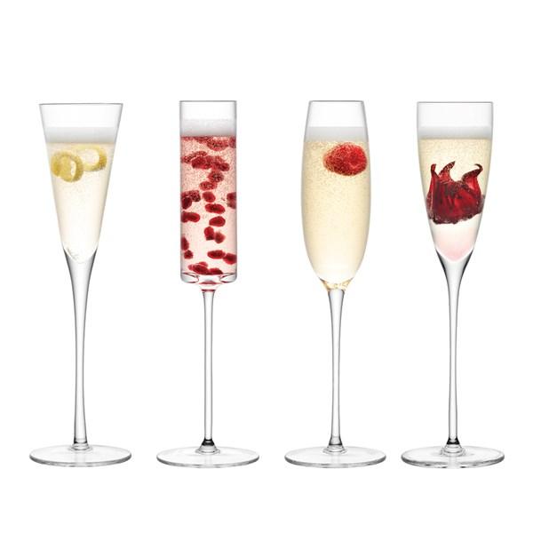 Lulu Champagne Flutes 4 Set