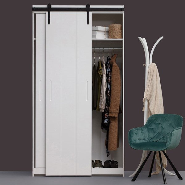 Luuk 2 Door Wardrobe with Sliding Doors by Woood