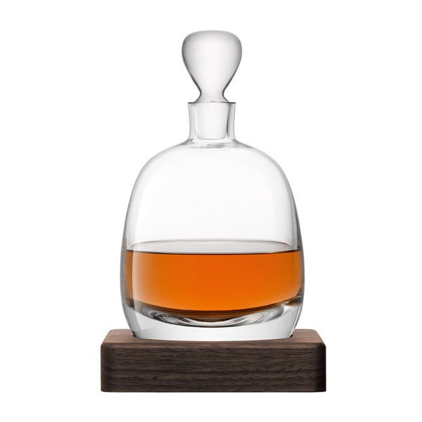 LSA International Whisky Islay Decanter with Walnut Base