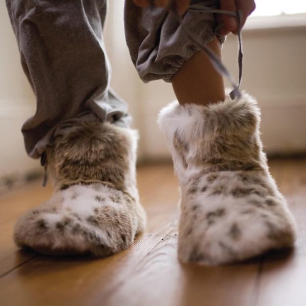 Luxury ultra soft faux fur slippers