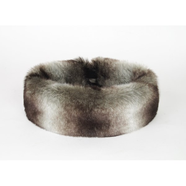 FAUX FUR Huff Head Band in Chinchilla