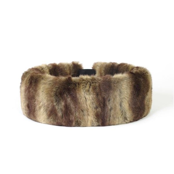 FAUX FUR Huff Head Band in Vintage Caramel