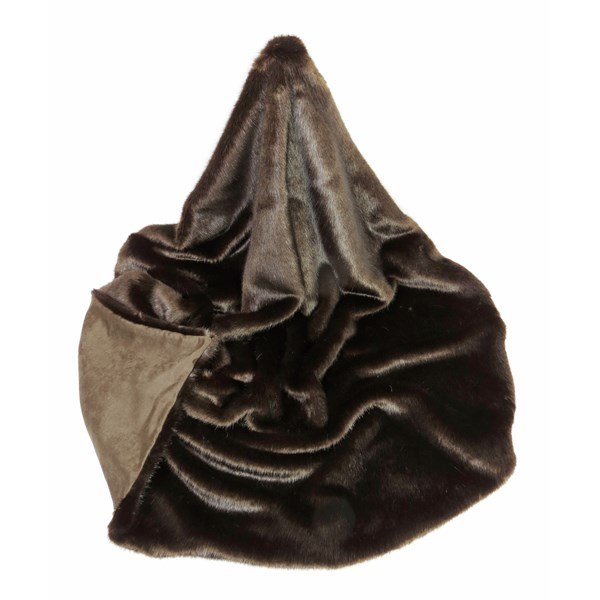 FAUX FUR Treacle Throw
