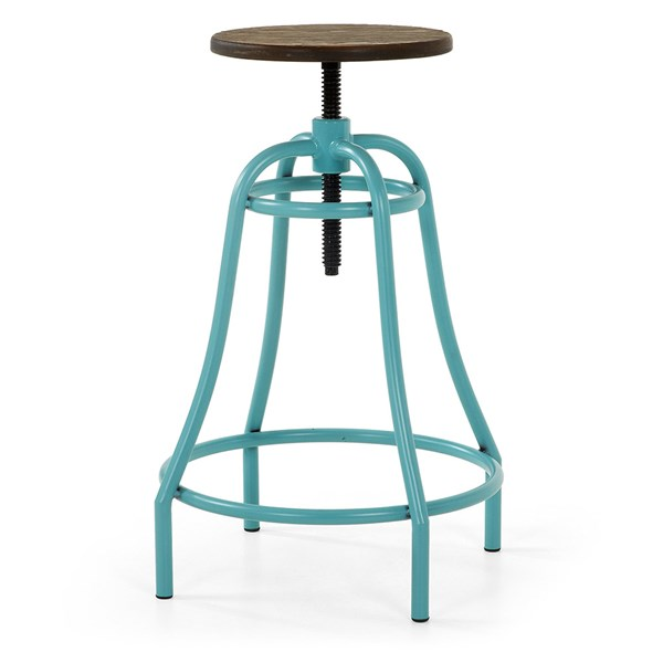 Malibu Metal Swivel Bar Stool in Turquoise
