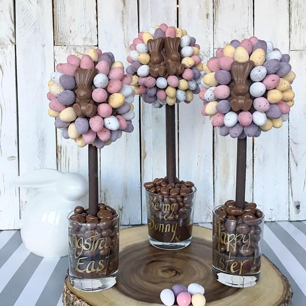 Personalised Malteser Bunny and Mini Egg Chocolate Sweet Tree