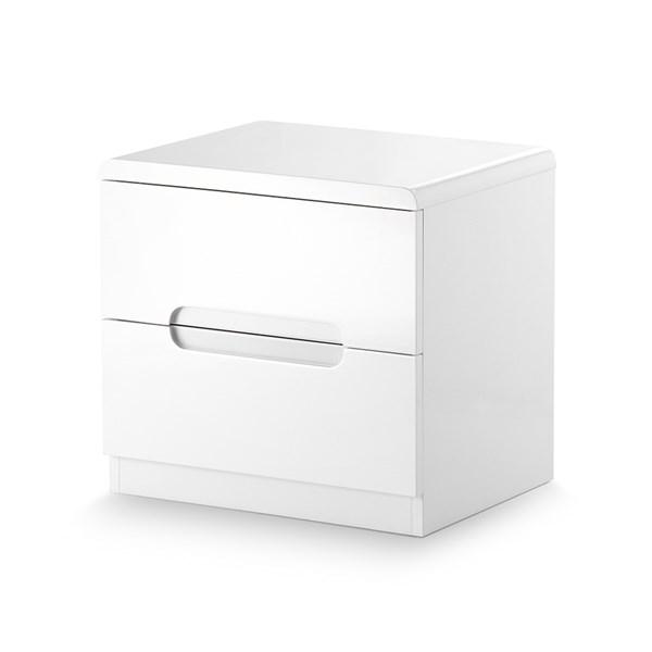 Manhattan 2 Drawer Bedside Cabinet in White