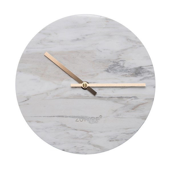 Marble Time Wall Clock in White