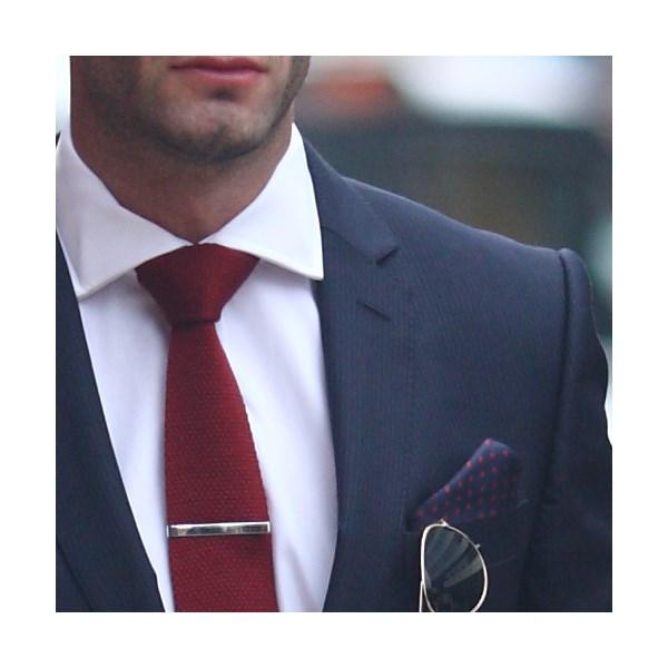 Tyler & Tyler red wool tie