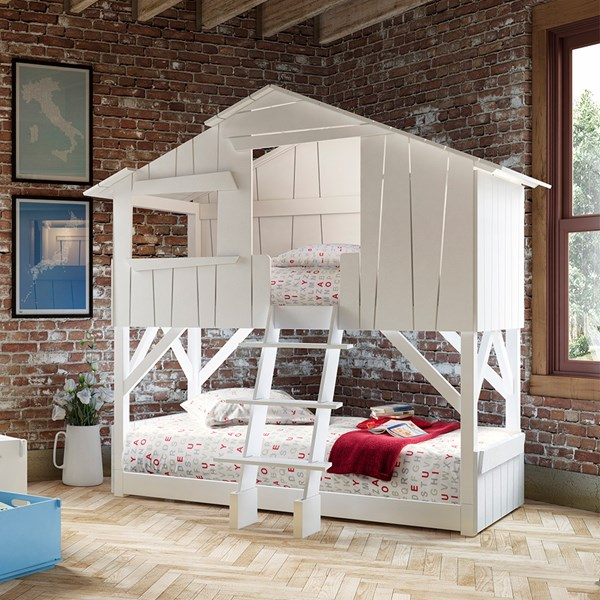 Mathy by Bols Kids White Treehouse Bunkbed