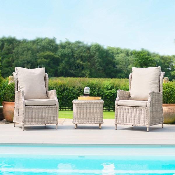 Maze Rattan Cotswold Reclining 2 Seat Lounge Garden Chair Set